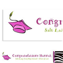 Cute Grad Girl Custom Graduation Banner 6ft