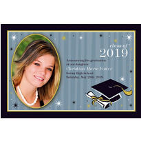 Grad Honors Custom Photo Announcement