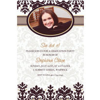 Custom Black & White Photo Invitations