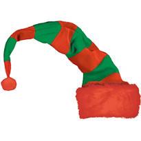 Long Striped Elf Hat
