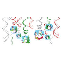 Joyful Snowman Swirl Decorations 12ct