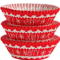 Santa Claus Baking Cups 75ct