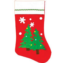 Felt Christmas Tree Christmas Stocking 17in