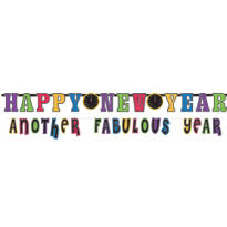 Jewel Tone New Years Banner Combo Pack 10ft 2pc