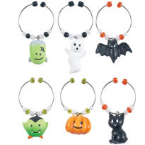 Happy Hauntings Wine Charms 6pc