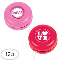 Valentines Day Yo Yos 12ct<span class=messagesale><br><b>25¢ per piece!</b></br></span>