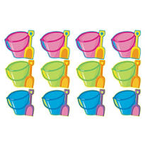 Pail and Shovel Cutouts 12ct
