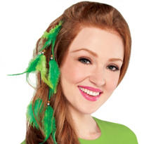 Feather St. Patricks Day Hair Extension