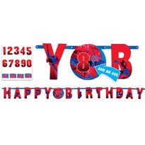 Add an Age Spiderman Birthday Banner 10ft