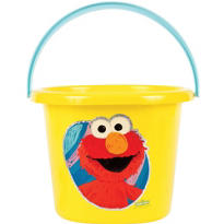 Plastic Elmo Easter Bucket 8in