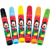 Mickey Mouse Markers 6ct