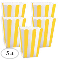 Yellow Popcorn Favor Boxes 5ct