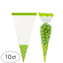 Green Cone Favor Bags 10ct