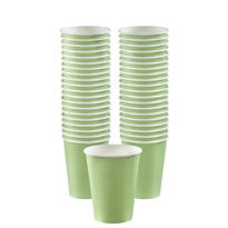 Leaf Green Paper Coffee Cups 40ct