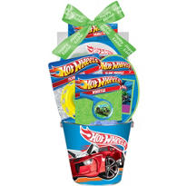 Premade Hot Wheels Easter Basket 4 3/4in