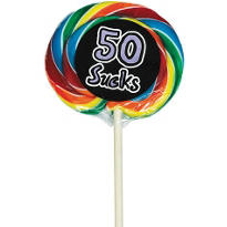 50 Sucks 50th Birthday Lollipop
