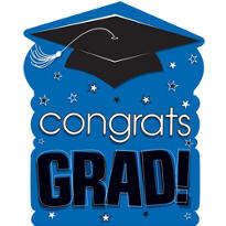 Royal Blue Congrats Grad Cutout 15in