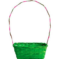 Green Bamboo Easter Basket