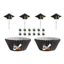 Graduation Cupcake Decorating Kit for 12