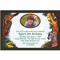 Jungle Safari Custom Photo Invitation
