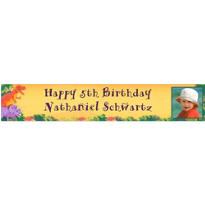 Prehistoric Party Custom Photo Banner 6ft