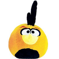 Orange Globe Angry Birds Plush Toy 5in