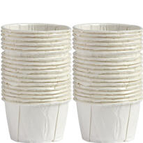 White Mini Nut & Party Cups 36ct