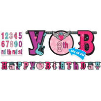 Add an Age Rocker Girl Letter Banner 10ft