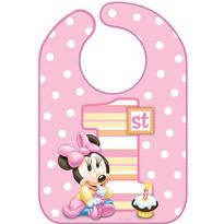 1st Birthday Minnie Mouse Bib