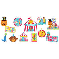 1st Birthday Fisher-Price Circus Cutouts 12ct