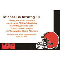 Cleveland Browns Custom Invitation