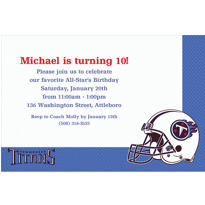 Tennessee Titans Custom Invitation