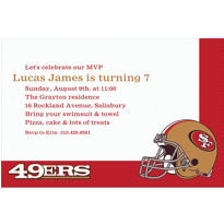 San Francisco 49ers Custom Invitation