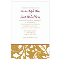 Golden Custom Wedding Invitation