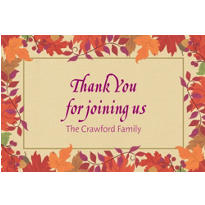 Festive Fall Custom Thank You Note