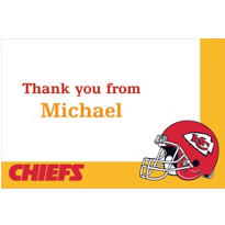Kansas City Chiefs Custom Thank You Note