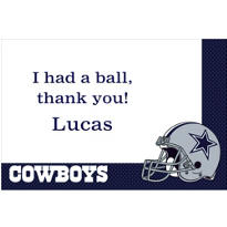 Dallas Cowboys Custom Thank You Note