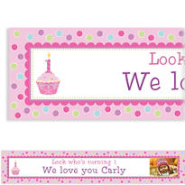 Sweet Little Cupcake Girl Custom Photo Banner 6ft