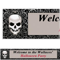 Fright Night Halloween Custom Banner