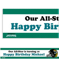 Jacksonville Jaguars Custom Banner 6ft