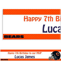 Chicago Bears Custom Banner 6ft