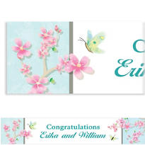 Cherry Blossom Love Custom Banner 6ft