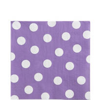 Lilac Polka Dot Lunch Napkins 16ct