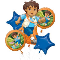 Go, Diego, Go! Balloon Bouquet 5pc