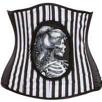 Deluxe Black and Bone Waist Cincher