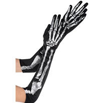 Adult Long Skeleton Gloves