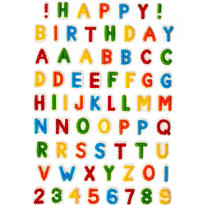 Letters and Numbers Icing Decorations 71ct
