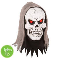 Light-Up Evil Eyes Skull Mask