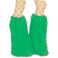 Ravewear Green Furry Leg Warmers