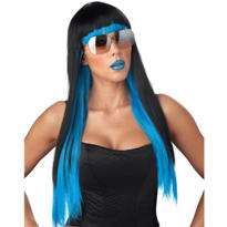 Diva Glam Black and Blue Ombre Wig